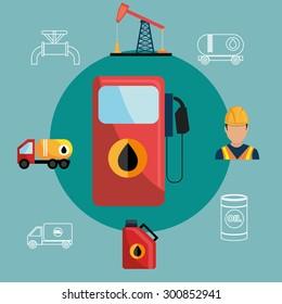 Petroleum industry design, vector illustration eps 10.
