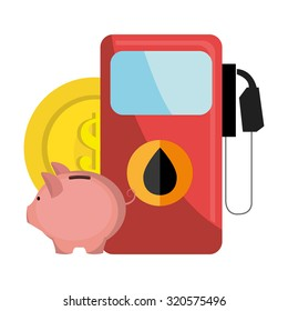 Petroleum and oil industry prices design, vector illustration
