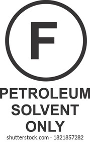 PETROLEUM SOLVENT ONLY ICON, SIGN AND SYMBOL