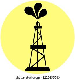 Petrolium icon. Vector illustration of fuel, gas, oil sign, symbol.
