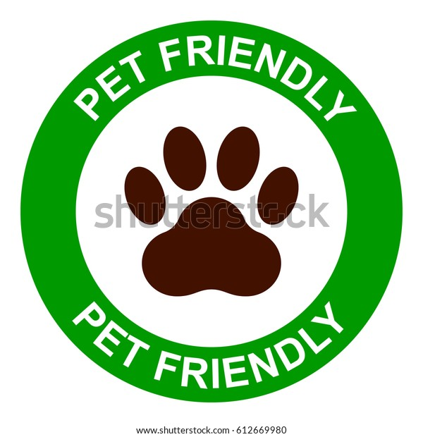 Pets allowed, pet friendly sign, vector illustration.
