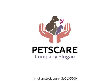 Pets care Logo Symbol design Illustration