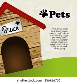 pets design  over sky background vector illustration