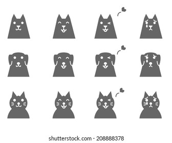 pets face icons