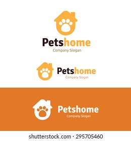 Pets Home Vector Logo Template