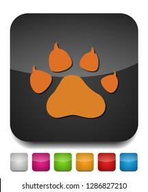 Pets icon, vector paw print - animal illustration, pet symbol