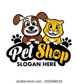 Pets shop logo template