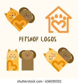 Petshop logos. Cat and dog
