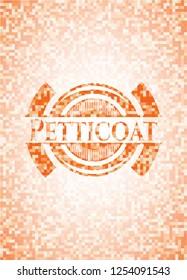 Petticoat abstract orange mosaic emblem with background