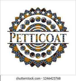 Petticoat arabesque style emblem. arabic decoration.
