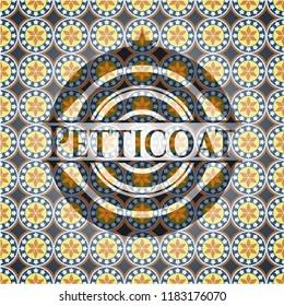 Petticoat arabic style emblem. Arabesque decoration.