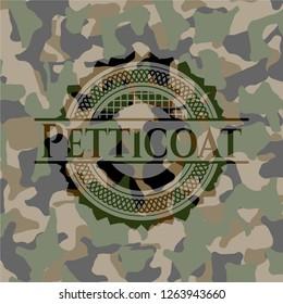 Petticoat camo emblem