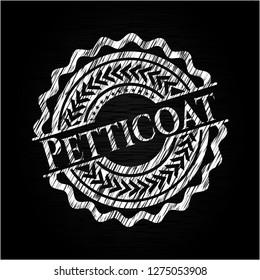 Petticoat chalkboard emblem