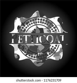 Petticoat grey camouflaged emblem