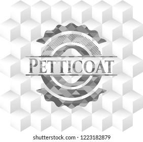 Petticoat grey emblem with cube white background