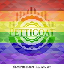 Petticoat lgbt colors emblem