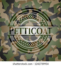 Petticoat on camo pattern