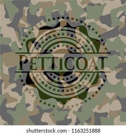Petticoat on camouflaged pattern