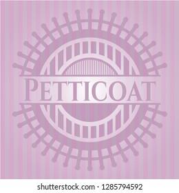 Petticoat retro style pink emblem