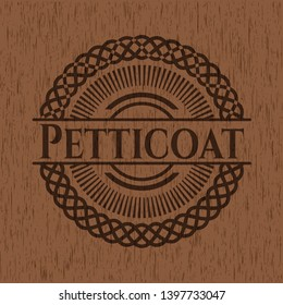 Petticoat wood icon or emblem. Vector Illustration.