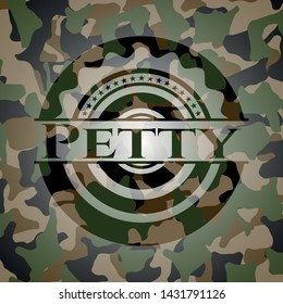 Petty on camouflage texture. Vector Illustration. Detailed.