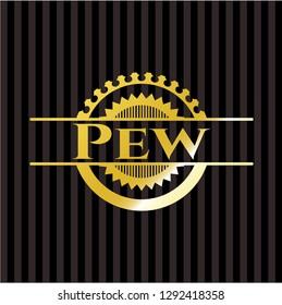 Pew golden emblem