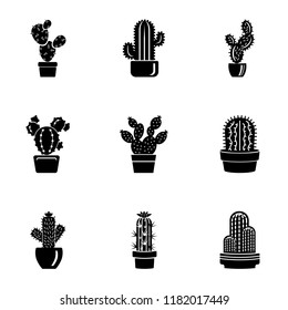 Peyote icons set. Simple set of 9 peyote vector icons for web isolated on white background