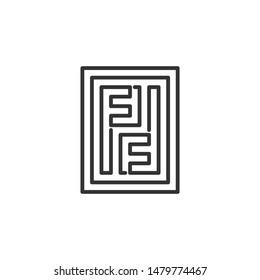 pf fp initial letter logo design