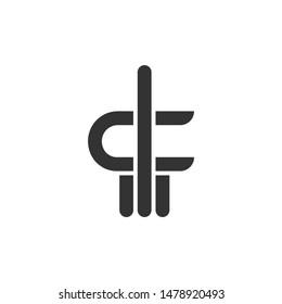 pf fp logo design initials