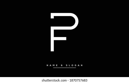 PF ,FP ,P ,F  Abstract Letters Logo monogram