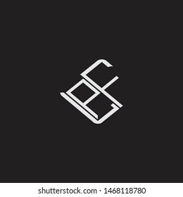 PF Initial Logo letters with rotate squere template
