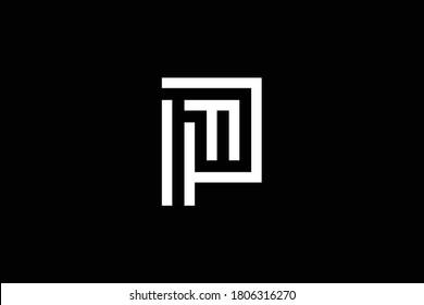 PF letter logo design on luxury background. FP monogram initials letter logo concept. PF icon design. FP elegant and Professional white color letter icon design on black background. FP PF F P