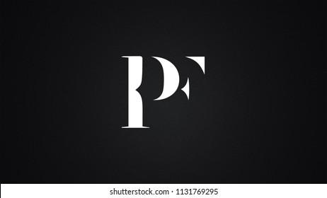 PF Letter Logo Design Template Vector