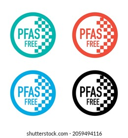 pfas free sticker badge, vector illustration