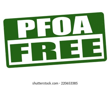 PFOA free grunge rubber stamp on white background, vector illustration