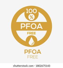 (PFOA free) label sign, vector illustration.