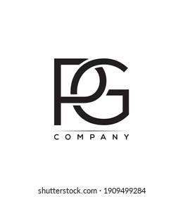 PG creative letter logo vector