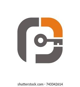 PG, GP logo design template vector