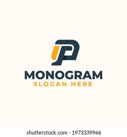 PG GP P G Letter Monogram Logo Template