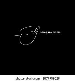 Pg handwritten logo for identity