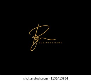 PG Letter Logo Manual Elegant Minimalist Signature