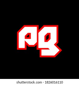PG logo design, initial PG letter design with sci-fi style. PG logo for game, esport, Technology, Digital, Community or Business. P G sport modern Italic alphabet font. Typography urban style fonts.