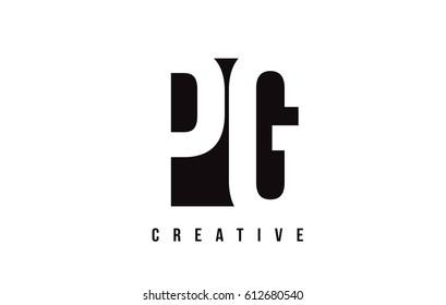 PG P G White Letter Logo Design with Black Square Vector Illustration Template.