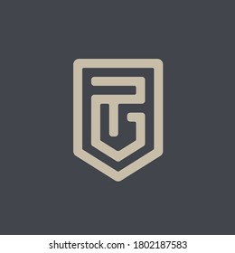 PG Shield logo. Strong masculine design.