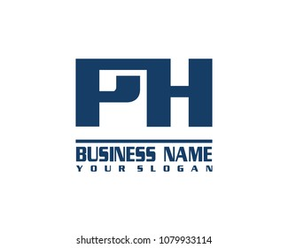 PH company linked letter logo