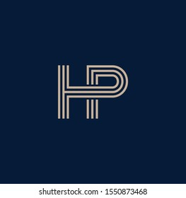 PH letter designs for logo and icons