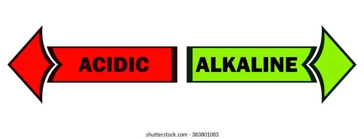 PH Level Alkaline and Acidic Arrows, Vector Illustration.