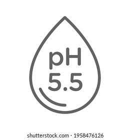 pH neutral balance vector icon, badge seal, logo