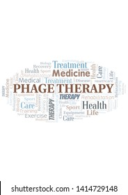 Phage Therapy word cloud. Wordcloud made with text only.