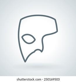 Phantom Carnival Mask Line Icon